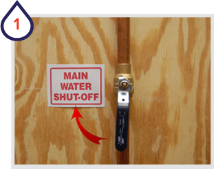 Turn off water main and circuit breaker for the water heater